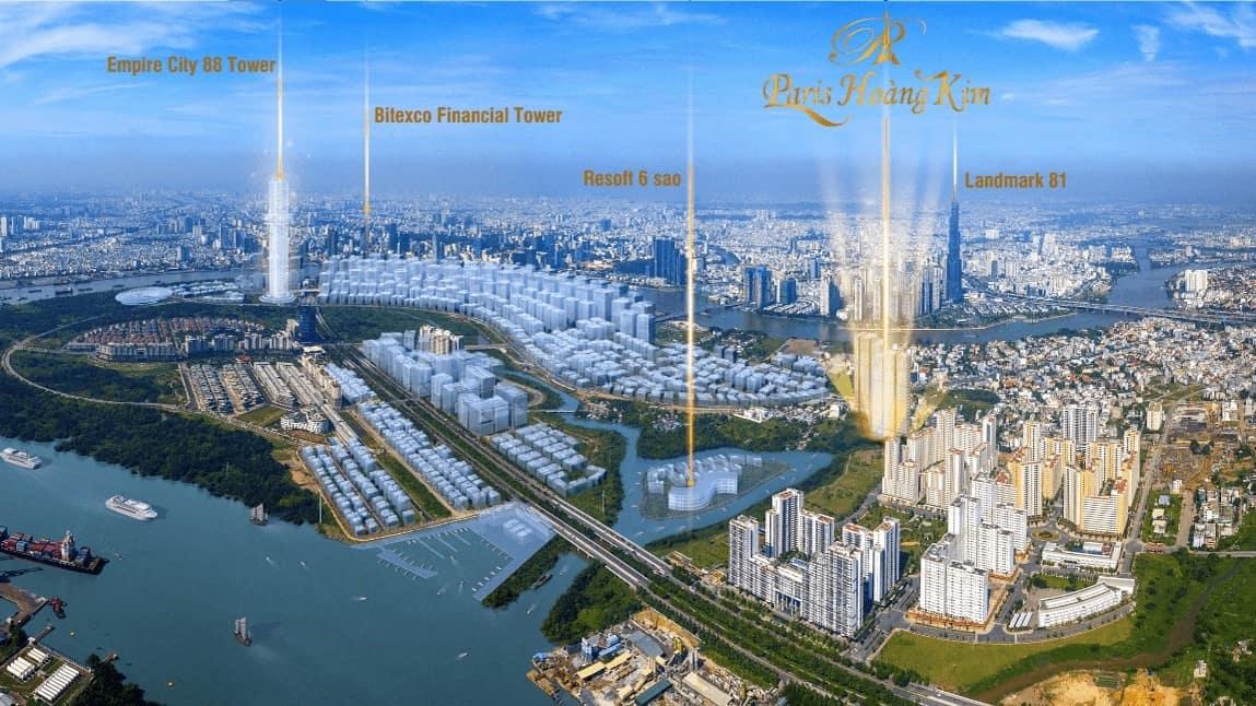 Vị trí dự án Paris Hoàng Kim