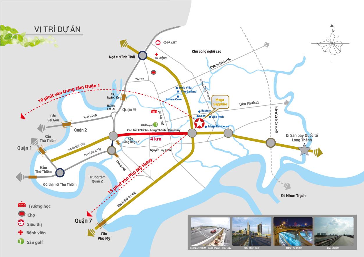 vị trí căn hộ Safira Khang Điền