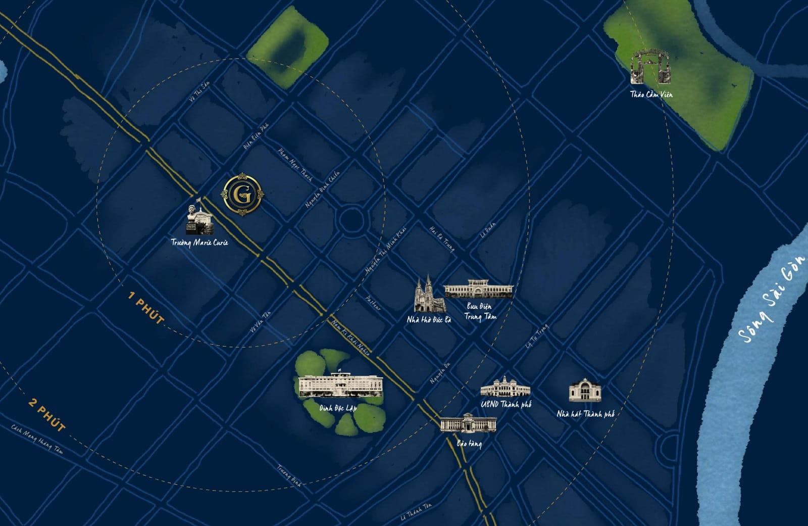 Vị trí dự án Grand Central Quận 3