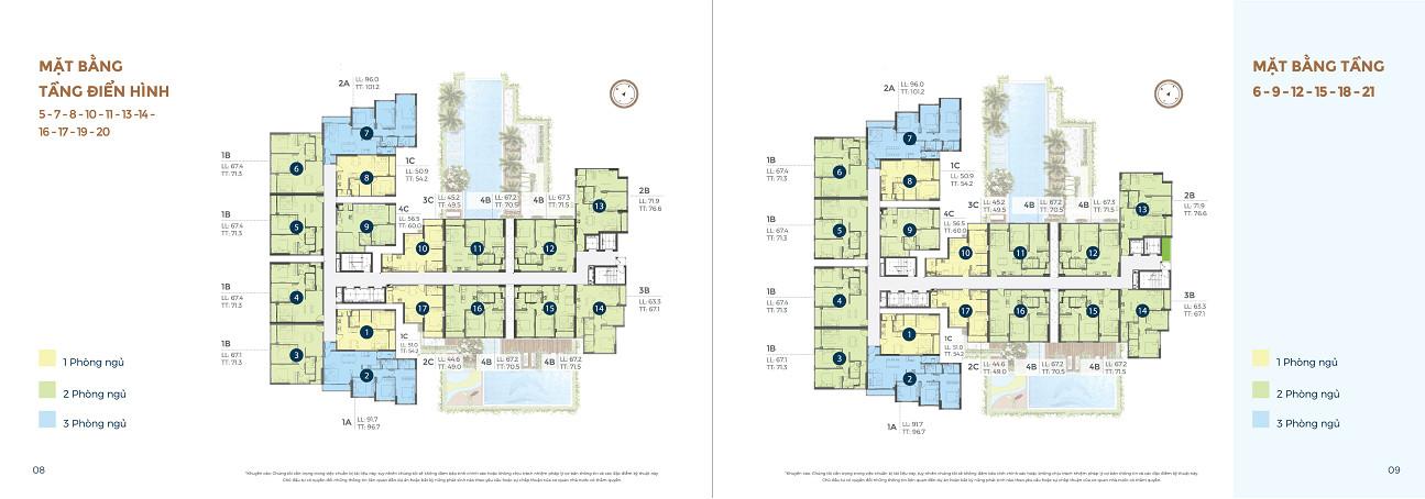 mặt bằng tầng điển hình căn hộ precia quận 2