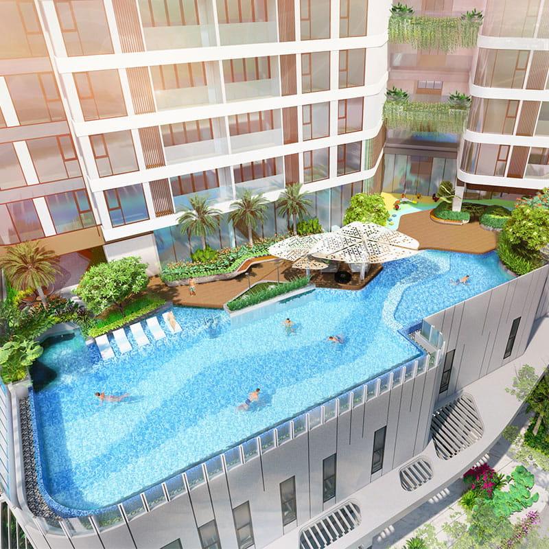 hồ bơi thảo điền green tower-min